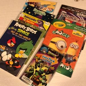 Coloring books.New.Minions, Angry Birds, Spiderman